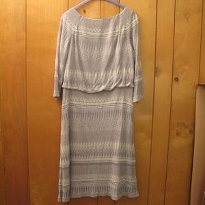 Dresses - Silver/White/Gray Holiday Party Dress Sz. 14